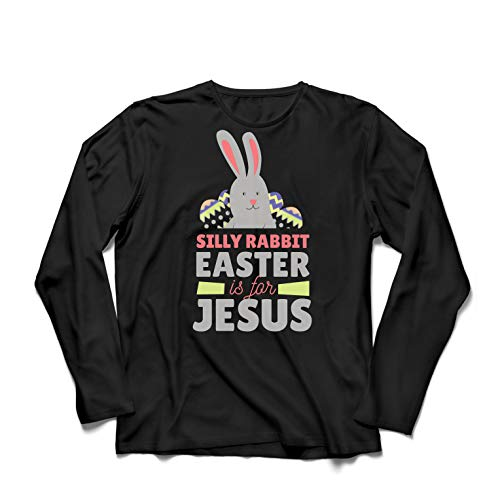 lepni.me Herren T Shirts Albernes Kaninchen, Ostern ist für Jesus, Geschenk der Christen (Medium Schwarz Mehrfarben) Alert-ringer