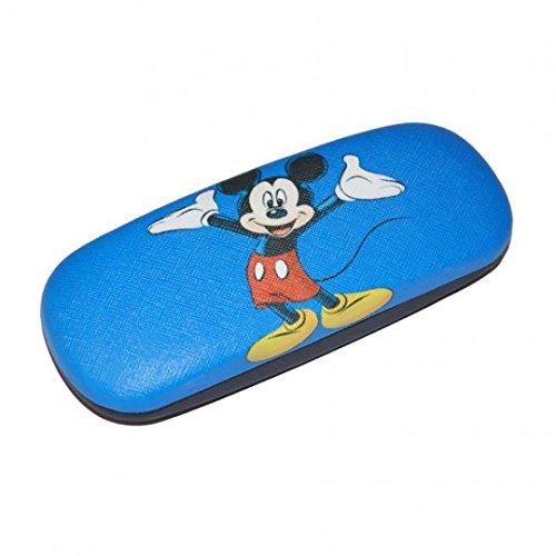 süßes Brillenetui für Kinder | MICKEY MOUSE in blau/schwarz mit Metallscharnier