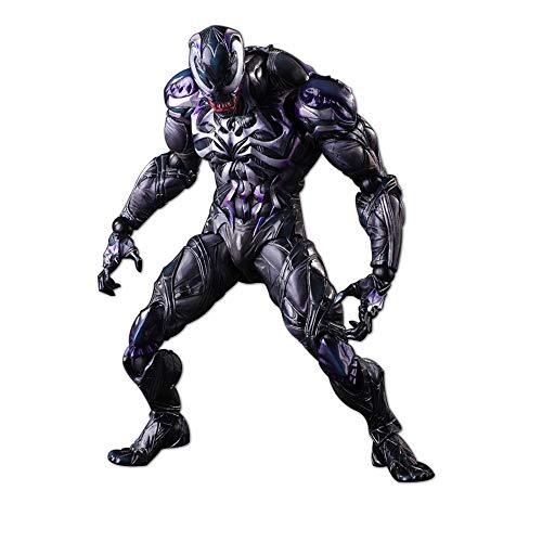 Xiao Jian- Venom - Filmfigurenmodell Realistisch/Joint Movable Venom Modell Spielzeug/Rot - PVC Material -26cm Spielzeugmodell