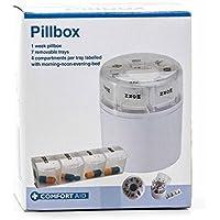 Medikamentendosierer / Pillenbox, 7Tage einzeln entnehmbar, 4 Fächer, beschriftet, lieferbar in 3 Sprachen (DE... preisvergleich bei billige-tabletten.eu