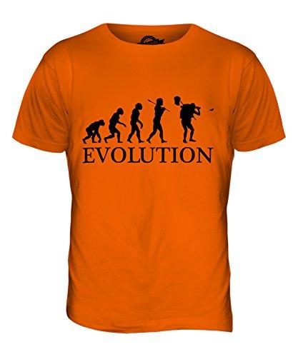CandyMix Schmetterling Fangen Insektensammlung Evolution Des Menschen Herren T Shirt Orange