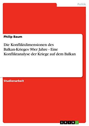 Die Konfliktdimensionen des Balkan-Krieges 90er Jahre - Eine Konfliktanalyse der Kriege auf dem Balkan