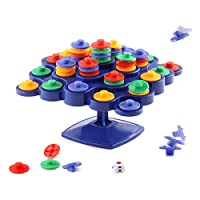 Creamon Balancing Top Tower, Balancing Top Tower Toy Board Game Desktop Toy Children Early Educational Toys Blue