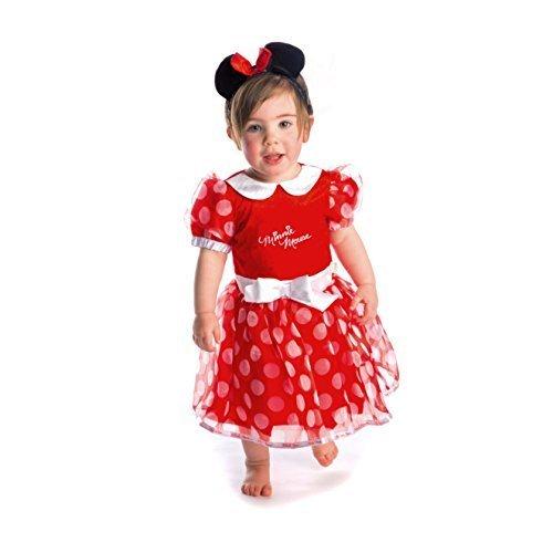 Offiziell Disney Baby Prinzessin Kostüm Kleid Kleinkind Minnie Maus Rot Säugling Kleider Größe 12-18 (Kostüm Maus Minnie Zubehör Kleinkind)