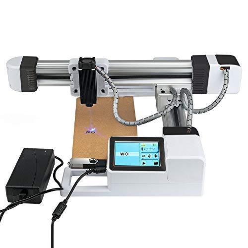 TOPQSC Offline-USB-Lasergravurmaschine, 3000 mW Mini-Desktop-Lasergravurdrucker mit Carver-Größe 155 x 175 mm, High Speed Wireless Lasergravurmaschine für Holz, Papier, Gummi, Bambus, Leder -