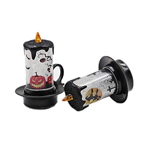 (Halloween Kerze Lichter Festliche Stimmung Lichter Dekorative Requisiten Candle Cup LED Elektronische Kerzenlampe Desktop-Ornamente 12Ps)