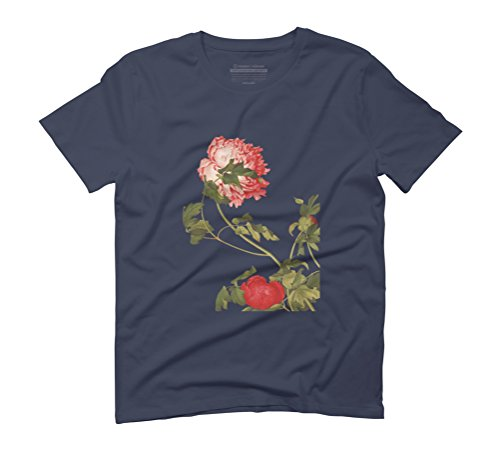 Blossom in the wind Men's Graphic T-Shirt - Design By Humans Navy