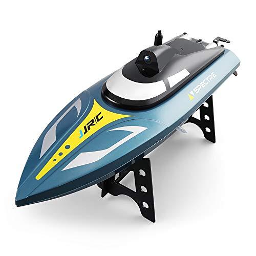 RC Boot für Kinder und Erwachsene 35 km/h   720P HD Kamera Fernbedienung Spielzeugboot für Seen und Flüsse 2.4GHz Selbsteinstellende wasserdichte Fernbedienung Elektrisches Schnellboot mit Batterie