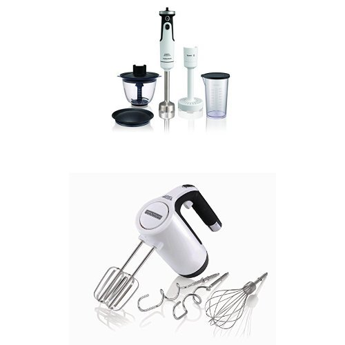 Morphy Richards 402051 Total Control Hand Blender Set and 400505 Total Control Hand Mixer – White