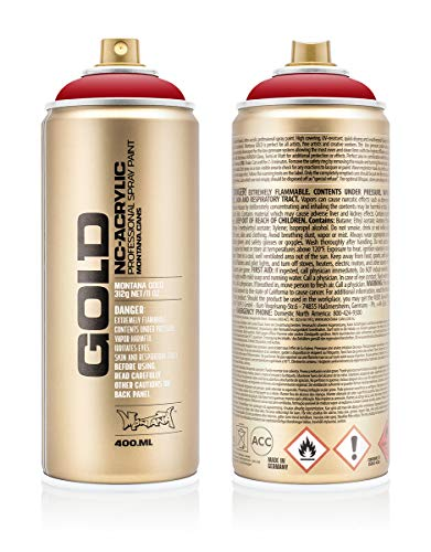Montana Cans 285653 Montana Spray Dose Gold 400ml-SHOCK Colors, Gld400-s3020-Shock Kent Blood Red - Montana-spray