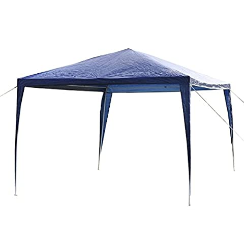 Costway 3X3M Outdoor Garden Gazebo Canopy Party Wedding Tent Shelter
