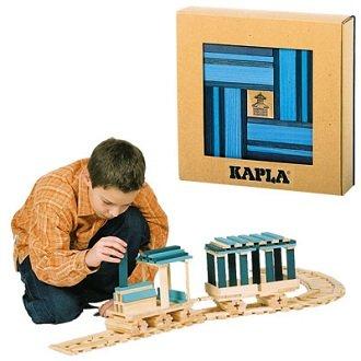 Kapla 9000105 Holzplättchen 40er Box Buch, Blau - 4