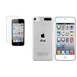 Anti-reflet Film+Cristal housse rigide coque transparent pour iPod Touch 5 Gen