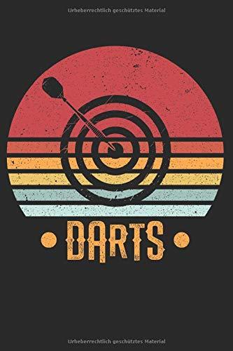 Notizbuch: Dart retro Notebook A5 liniert I Geschenk für Darter und Dart Spieler I Dartscheibe Dartpfeil 180 Journal I Turnier Wettkampf Tagebuch