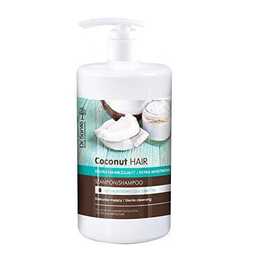 Dr Sante - Champú Extra Hidratante de Aceite de Coco para Pelo Dañado, Natural sin Parabenos, 1000ml