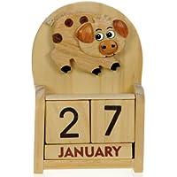 Porc : Calendrier Perpétuel en Bois : traditionnel fait main cadeau d'anniversaire et de Noël Idées cadeau de Noël : Taille : 10,5 X 7 X 3,5 Cm : achetez un insolite et Quirky Alternative à un calendrier de l'avent : unique et fantaisie cadeau : cadeau pour tous les âges. de la date Forever Plus.
