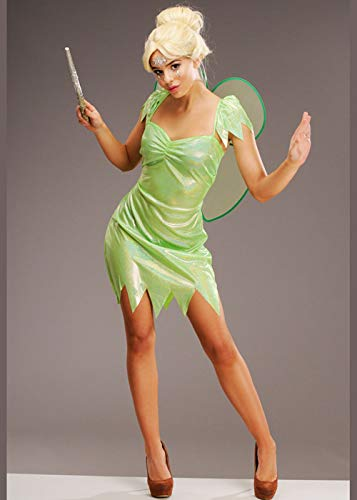Womens Tinkerbell Style Grün Magie Fee Kostüm Small (UK 8-10)