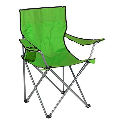 Aktive Silla de camping plegable, color verde, 52 x 52 x 88 cm (ColorBaby 85279)
