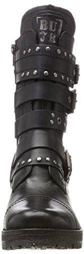 Bugatti Damen 421323321000 Biker Boots Schwarz (Schwarz)