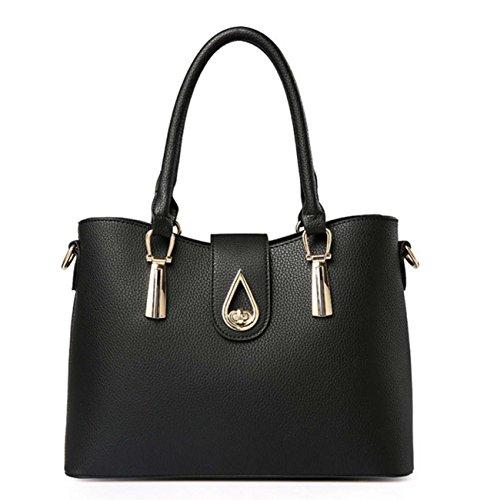 Borsa delle signore tre insiemi delle borse borsa del raccoglitore borsa del sacchetto di sei colori PU opzionale Blue