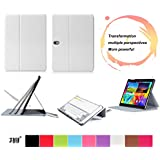 Galaxy Tab S 10.5-inch Case Cover, Fyy Ultra Slim Magnetic Smart Cover Multi-Angle Case for Samsung Galaxy Tab S 10.5-inch White (With Auto Wake/Sleep Feature)