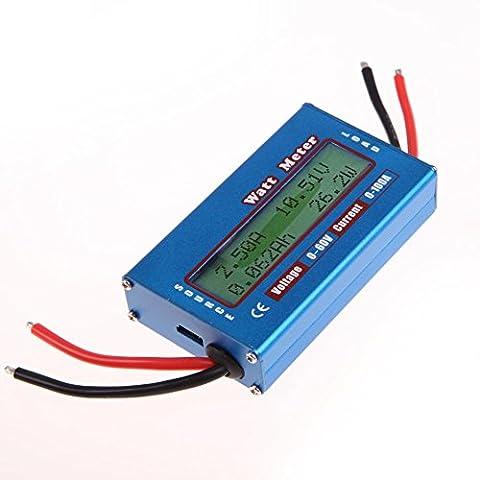Amazingdeal365 Simple DC Power Analyser 12V 24V Watt Volt Amp Meter Solar Wind Analyzer Energy Monitor