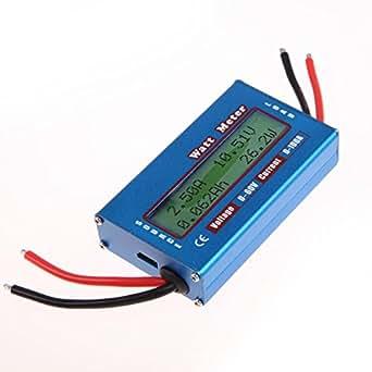 Vktech® Simple DC Voltmètre de Power Analyser 12V 24V / Ampèremètre Numérique Ecran LCD
