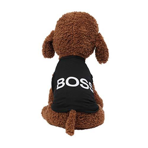 TUDUZ Brief Drucken Hundebekleidung Frühling und Sommer Atmungsaktive T Shirts Haustier Kleidung Hund Katze Bekleidung Hundeshirt Trägerhemd Tops Mode - Der Floh Kostüm