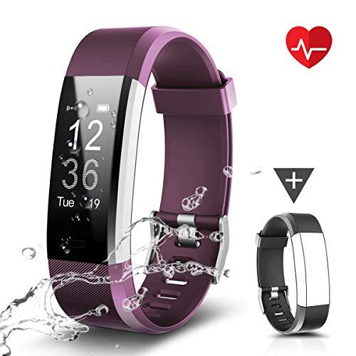 CHEREEKI Fitness Armband, Fitness Tracker Uhr mit Pulsmesser, Wasserdicht IP67 Aktivitätstracker Pulsuhren Bluetooth Smart Armbanduhr Schrittzähler mit Schlafmonitor Kalorienzähler Anruf SMS - Sensor Der Smart Basketball