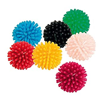 7 balles hérisson, vinyl, ø 3 cm pour chat (Les chats sont accro à jouer avec ceux-ci)