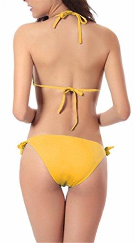 Damen Elegant Einteilige Neckholder Swimwear Badeanzüge Triangel Hipster  Bustier Strand Push Up Figurformend Gurt Schlank Bademode ...