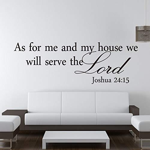 2018 Neueste Hot Joshua 24:15 Quote Wandaufkleber Bibel Verse Lord Decal Removable DIY Room Decor