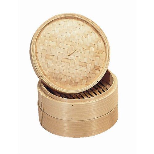 Vogue Bambus-Dampfgarer, 15 cm, Küchenhelfer für Gemüse und Pfannkuchen