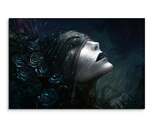 Dark Gothic Rain Wandbild 120x80cm XXL Bilder und Kunstdrucke auf Leinwand