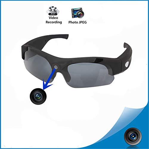 Sport Digital Brille Bluetooth Sonnenbrille 1080P HD Kamera Video intelligente Sonnenbrille,Black