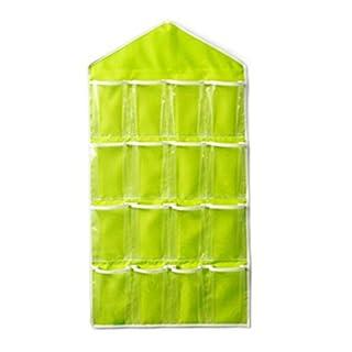 Aikesi Home storage bagShoe Rack 16 Pockets Shoe Organizer Sundries cosmetics Hanging Shelf Storage Stand Holder Hook Foldable Storage Bag