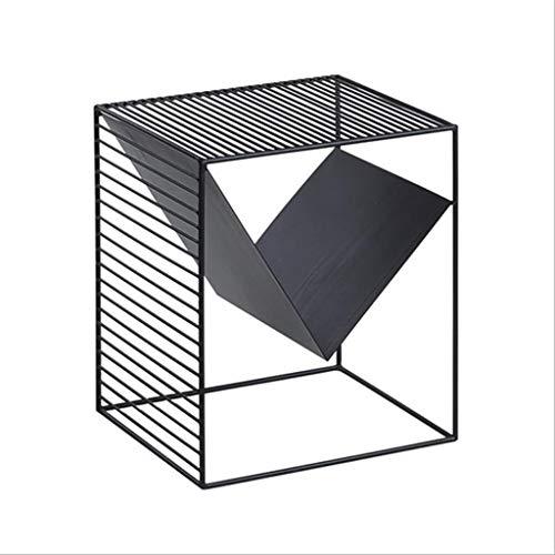 Dsrgwe Beistelltisch, Side, Square Multifunktions-Couchtisch, Metallrahmen für Innen und Außen, Schwarz, 40x35x45 cm - Buche Kirschbaum-schrank