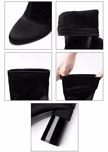 FLYRCX Moda europea tessuto elastico con spigoli vivi e taglienti le donne in autunno e in inverno stivali festa del sesso tacchi alti A