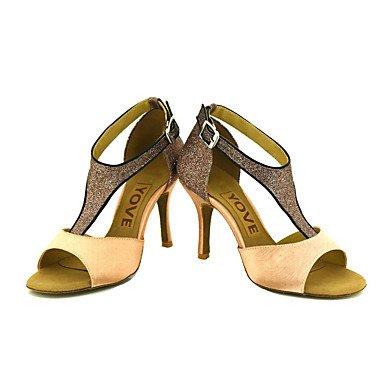 Chaussures De Danse-personnalisable-womens-latin-american Dancing / Custom-heel-satin-satin-noir / Bleu / Jaune / Rose / Violet / Rouge Violet