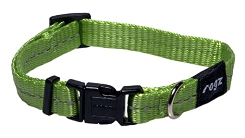 Rogz Nitelife Collar Reflective, 11 mm, Lime Green