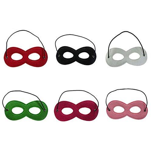 uperhelden Masken Cosplay Geburtstag Party Augenmasken Kinder Weihnachten Halloween Filz Masken Mit Elastischen Seil (6 Stück) ()