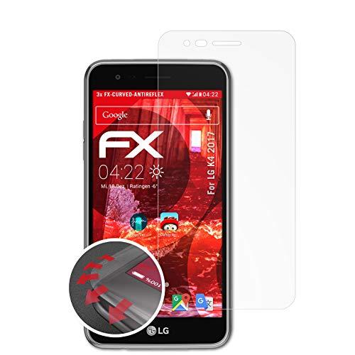 atFolix Schutzfolie passend für LG K4 2017 Folie, entspiegelnde & Flexible FX Bildschirmschutzfolie (3X)