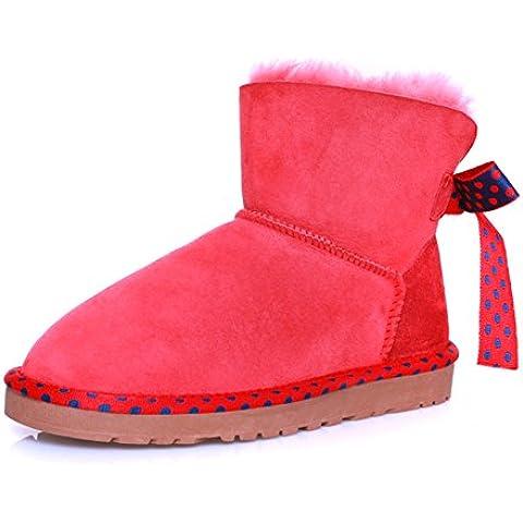 Ladies snow boots/Scarpe di cotone imbottito in lana/Stivaletti/ tubo basso Stivali donna