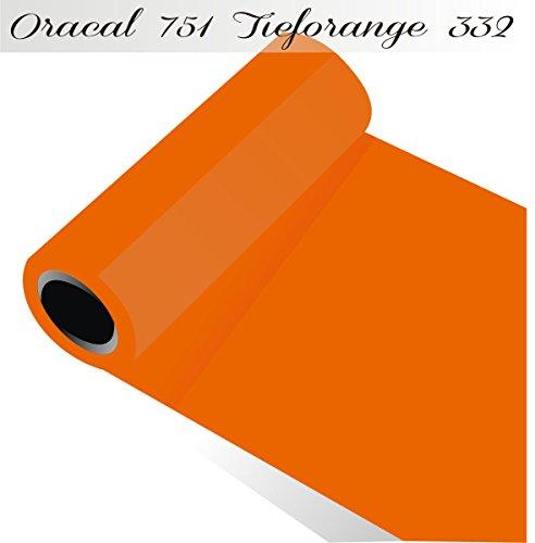 Sichtschutz oracal751–1-5mx63–00Displayschutzfolie für Küchenschränke/Dekoration Label 63cm x 5m glänzend, orange, ORACAL751-1-5mx63-332