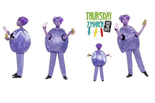 Kinder-Kostüm - Charlie & The Chocolate Factory Violet Beauregarde Kostüm 41542 Fügen Sie Gesichtsfarbe hinzu, Roald Dahl Day World Book Day Fancy Dress Party Fun - 7 Johnny Depp Kostüm