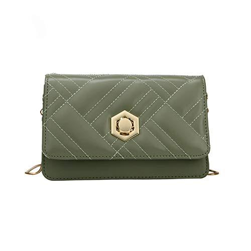 Wilde Schulter der personalisierten Verschlussschnallenbeschaffenheits-Mode umschlungenes kleines quadratisches Taschengrün -