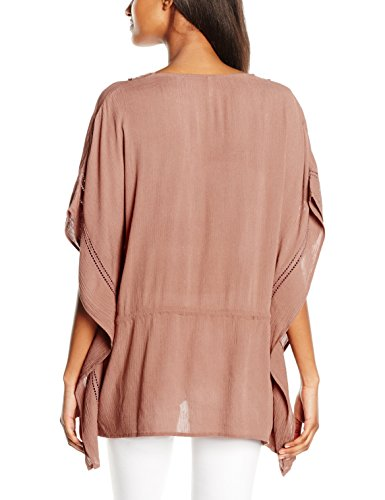ONLY Damen T-Shirt Onldelta Kaftan Wvn Braun (Cognac)