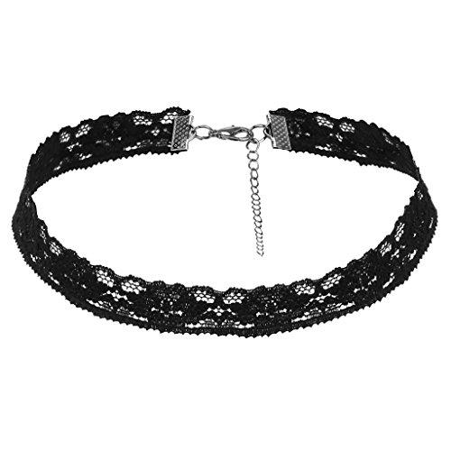 Red Velvet Strass (Bishilin Choker Halsketten Halsband Schwarze Velvet Choker Lace Gothic Samtband Eng)