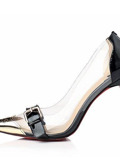 ShangYi Chaussures Femme - Habillé / Soirée & Evénement - Noir / Rouge / Or - Talon Aiguille - Bout Pointu - Talons - Cuir Black