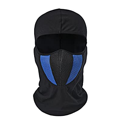 Tagvo Balaclava Face Mask, Breathable Mesh Multipurpose Windproof Motorcycle Cycling Tactical Balaclava Hood Neck Warmer, Fit Helmets for Adults Women and Men Elastic Universal Size by Tagvo
